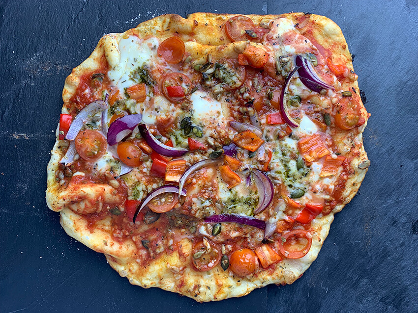 Pizza vegetarisch bbq