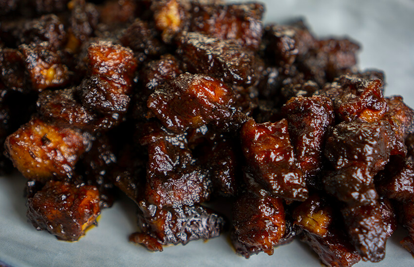 Pork belly burnt ends bbq